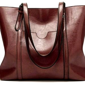Sold! - BNWOT Faux Leather Large Satchel Tote